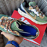 Мужские кроссовки Nike React Element  'Undercover' хаки демисезонные осень весна. Живое фото. Топ реплика ААА+, фото 6