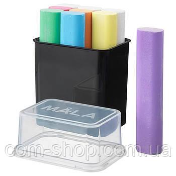 Мелки для рисования IKEA, набор, детские цветные, разные цвета