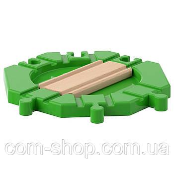 Поворотный круг для детских железных дорог, деревянные игрушки