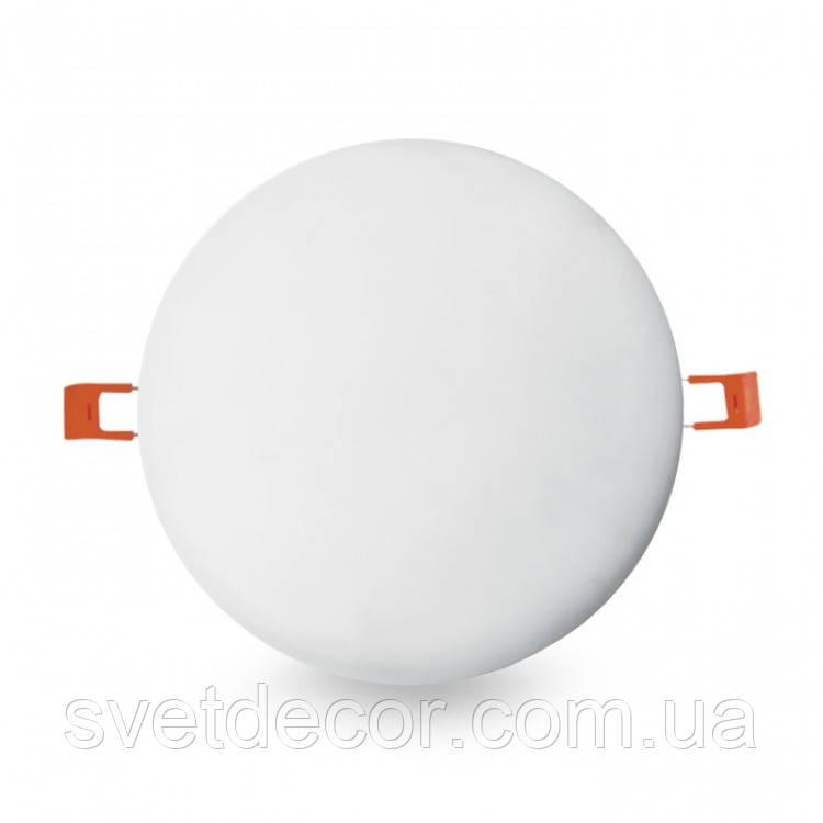 Встраиваемый светодиодный светильник FERON AL704 12W 4000K круг безрамочный
