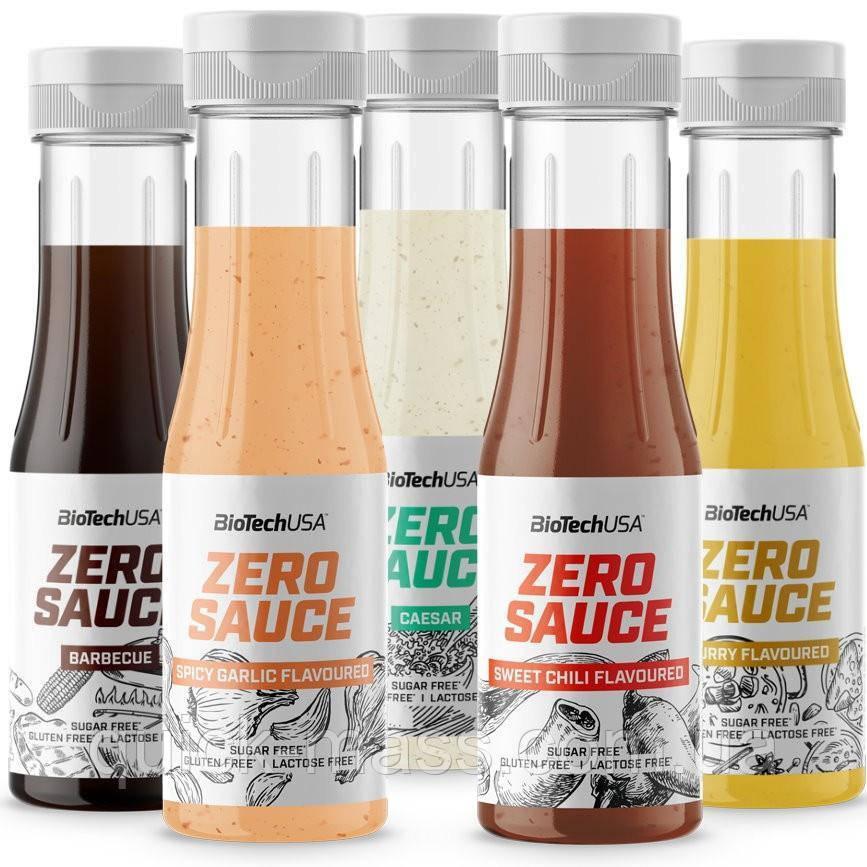 Заменители питания низькокалорийный соус Zero Sauce Biotech USA 350ml