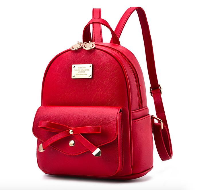 Рюкзак женский кожаный Agness Красный