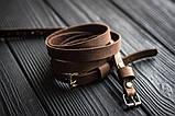 Браслет кожаный мужской mod.OldCraft 140 коричневый 6 вит., фото 5