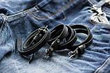 Браслет шкіряний чоловічий mod.OldCraft 70 чорний, фото 7