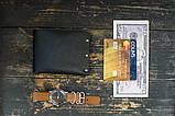 Чоловічий шкіряний гаманець HANDCRAFT IN UA чорний, фото 2