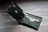 Чоловічий шкіряний гаманець HANDCRAFT IN UA чорний, фото 5