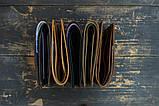 Чоловічий шкіряний гаманець HANDCRAFT IN UA чорний, фото 8