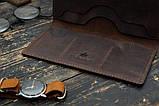 Мужское портмоне кошелек Финансист темно-коричневый, фото 2