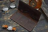 Мужское портмоне кошелек Финансист темно-коричневый, фото 3