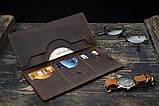 Мужское портмоне кошелек Финансист темно-коричневый, фото 4