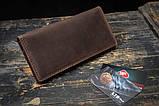 Мужское портмоне кошелек Финансист темно-коричневый, фото 5