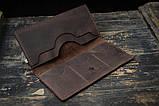 Мужское портмоне кошелек Финансист темно-коричневый, фото 6