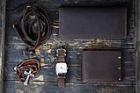 Мужское портмоне кошелек Финансист темно-коричневый, фото 7