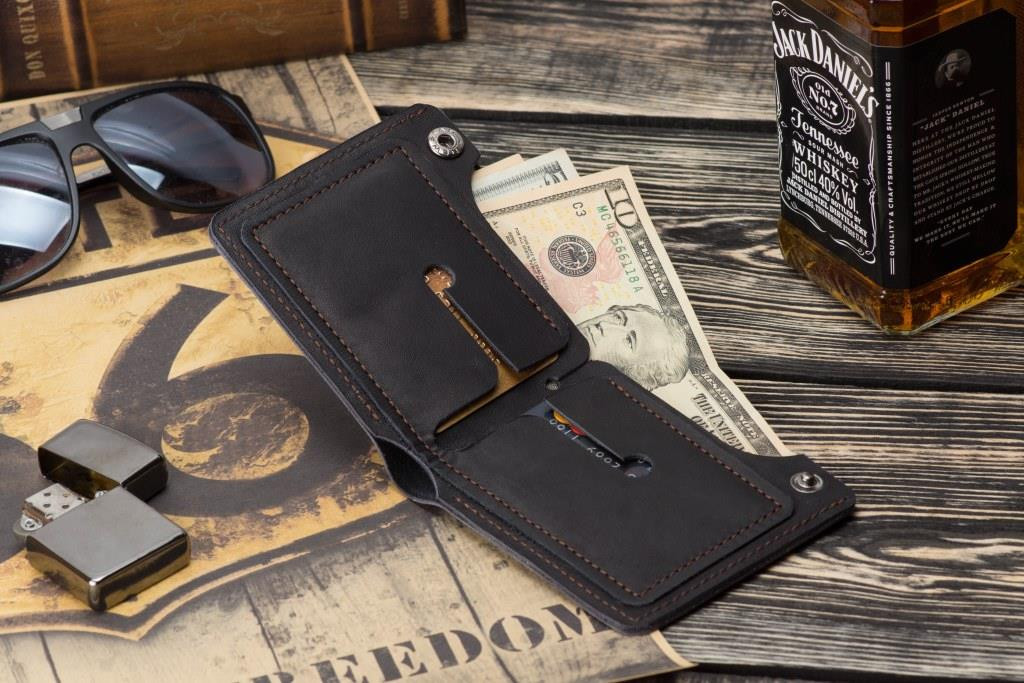 Чоловічий шкіряний гаманець mod.Legion чорний