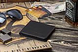 Мужской кожаный кошелек mod.Legion черный, фото 2