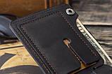 Мужской кожаный кошелек mod.Legion черный, фото 3
