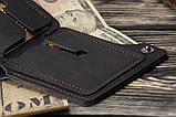 Мужской кожаный кошелек mod.Legion черный, фото 4