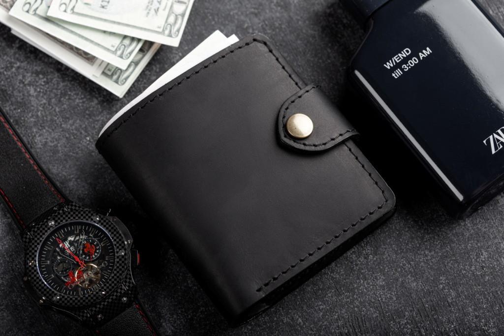 Чоловічий шкіряний гаманець mod.Turtle black