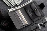 Чоловічий шкіряний гаманець mod.Turtle black, фото 2