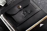 Чоловічий шкіряний гаманець mod.Turtle black, фото 3