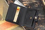 Чоловічий шкіряний гаманець mod.Turtle black, фото 4