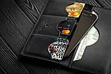 Чоловіче шкіряне портмоне гаманець Фінансист чорний, фото 3