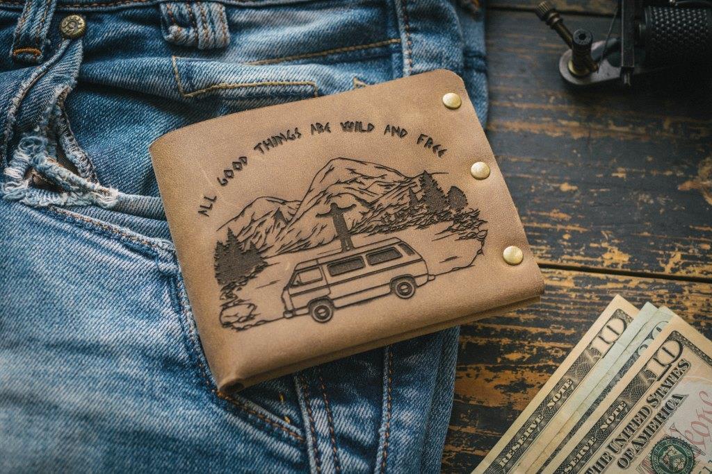 Чоловічий шкіряний гаманець ТатуНаКоже, життя