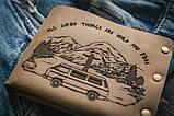 Чоловічий шкіряний гаманець ТатуНаКоже, життя, фото 2