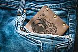 Мужской кожаный кошелек ТатуНаКоже, космос, фото 8