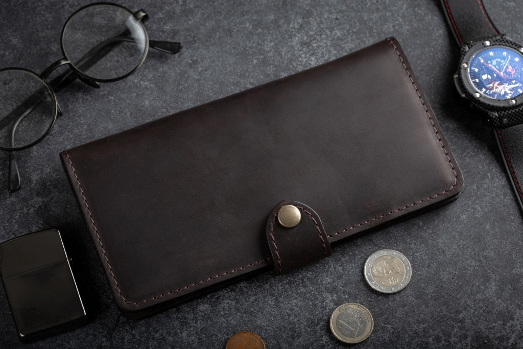 Портмоне клатч мужской Long Wallet MenStuff BRWN