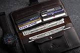 Портмоне клатч мужской Long Wallet MenStuff BRWN, фото 2