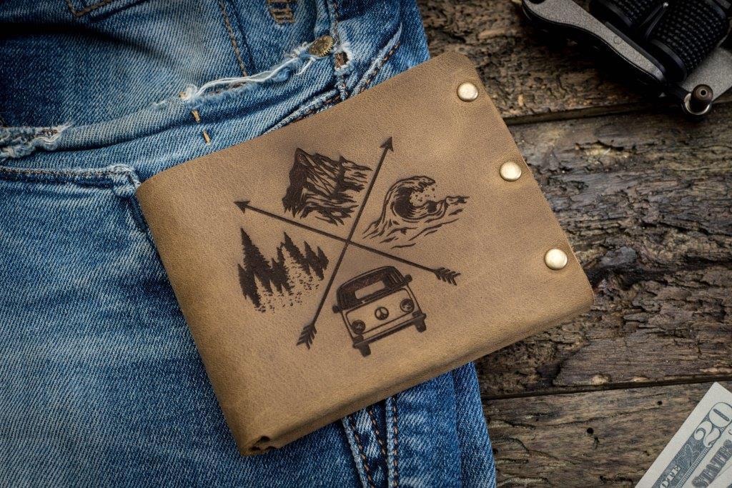 Чоловічий шкіряний гаманець ТатуНаКоже, Travel