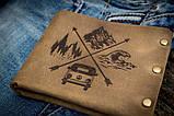 Чоловічий шкіряний гаманець ТатуНаКоже, Travel, фото 2