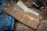 Чоловічий шкіряний гаманець ТатуНаКоже, Travel, фото 3