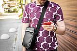 Мужская кожаная сумка mod.BlackDay через плечо, фото 2