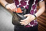 Мужская кожаная сумка mod.BlackDay через плечо, фото 4