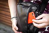 Мужская кожаная сумка mod.BlackDay через плечо, фото 5