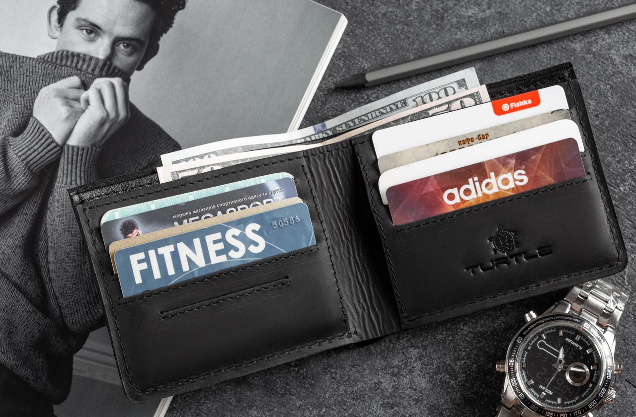 Мужское портмоне кошелек GENERAL чёрный