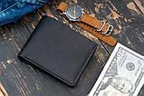 Мужское портмоне кошелек GENERAL чёрный, фото 5