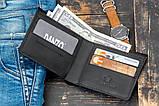 Мужское портмоне кошелек GENERAL чёрный, фото 6