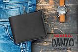 Мужское портмоне кошелек GENERAL чёрный, фото 7