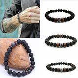 Мужской каменный браслет mod.Lava, фото 3