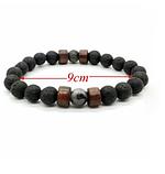 Мужской каменный браслет mod.Lava, фото 4