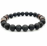 Мужской каменный браслет mod.Lava, фото 5