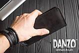 Мужское кожаное портмоне кошелек черный FortSmith лонг, фото 3