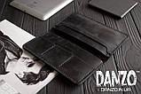 Мужское кожаное портмоне кошелек черный FortSmith лонг, фото 6