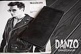 Мужское кожаное портмоне кошелек черный FortSmith лонг, фото 9