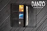Мужское кожаное портмоне кошелек черный FortSmith лонг, фото 10