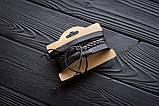 Браслет кожаный мужской mod.HiJack чёрный, фото 5
