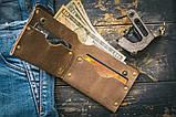 Мужской кожаный кошелек ТатуНаКоже, каждый день как последний, фото 2